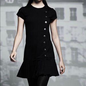 Catherine Malandrino Pleated Shift Dress